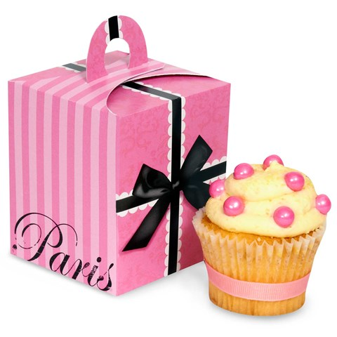 Paris Damask Cupcake Boxes