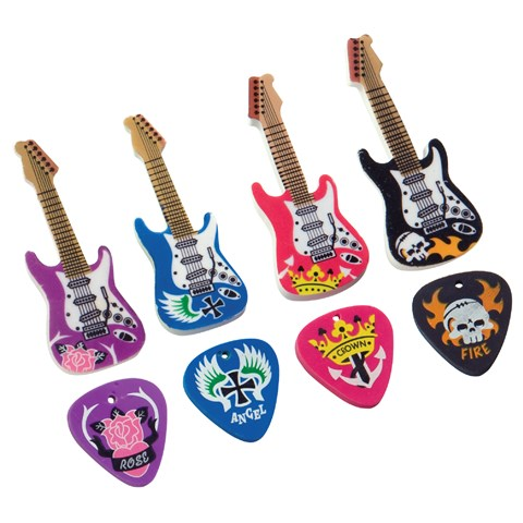 Guitar & Pick Eraser Set Asst.