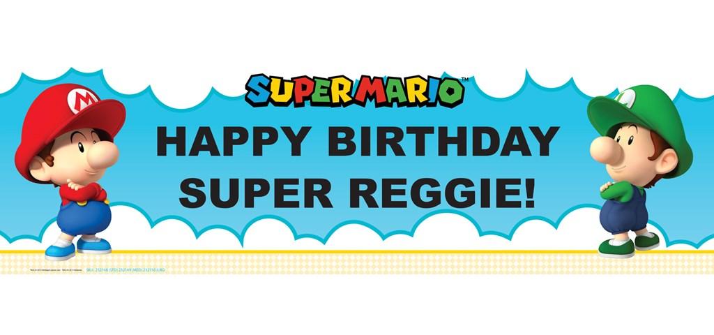 Super Mario Bros. Babies Boy Personalized Banner