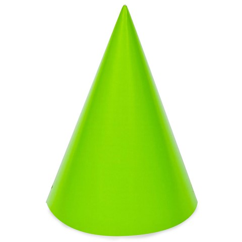 Lime Green Cone Party Hats
