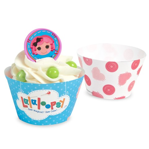 Lalaloopsy Reversible Cupcake Wrappers
