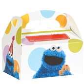 Sesame Street - Cookie Monster Personalized Write-In Empty Favor Boxes (4)