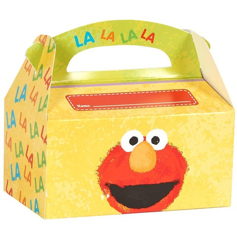 Sesame Street - Elmo's 1st Personalized Write-In Empty Favor Boxes (4)