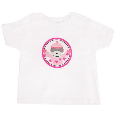 Sock Monkey Pink T-Shirt