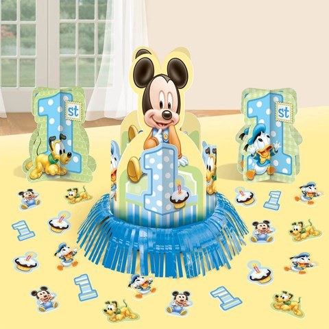 Disney Mickey 1st Birthday Table Decorating Kit