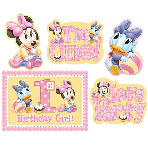 Disney Minnie 1st Birthday Room Decorating Kit