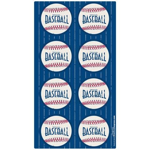 Baseball Time Small Lollipop Sticker Sheet