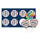 Baseball Time Lollipop Favor Kit