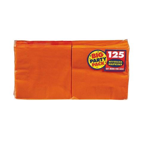 Orange Peel Big Party Pack Beverage Napkins