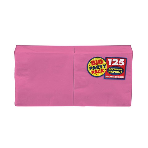 Bright Pink Big Party Pack Beverage Napkins