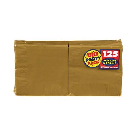 Gold Big Party Pack - Beverage Napkins