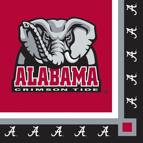 Alabama Crimson Tide Beverage Napkins