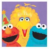 Sesame Street 1st Birthday - Beverage Napkins