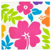 Hibiscus White Lunch Napkins