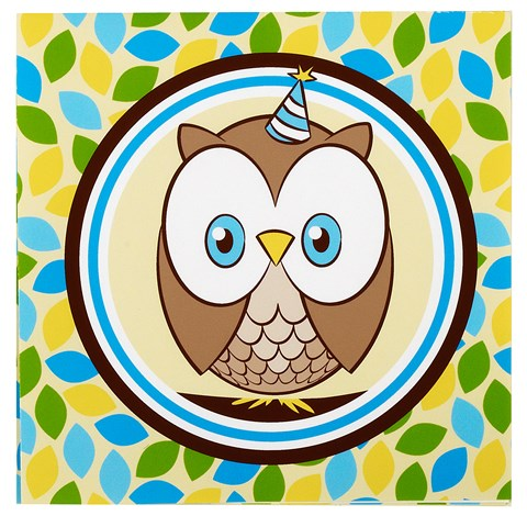 Look Whoo's 1 - Blue Lunch Napkins