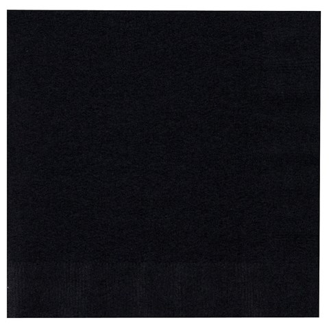 Black Velvet (Black) Lunch Napkins
