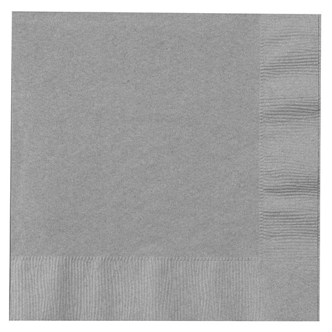 Shimmering Silver (Silver) Lunch Napkins