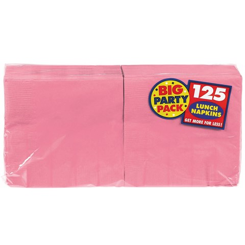 New Pink Big Party Pack Lunch Napkins