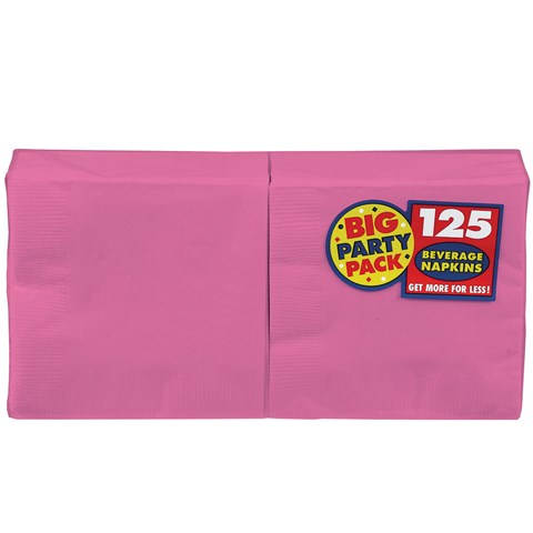 Bright Pink Big Party Pack - Lunch Napkins