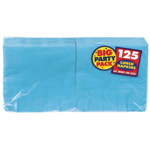 Caribbean Blue Big Party Pack - Lunch Napkins