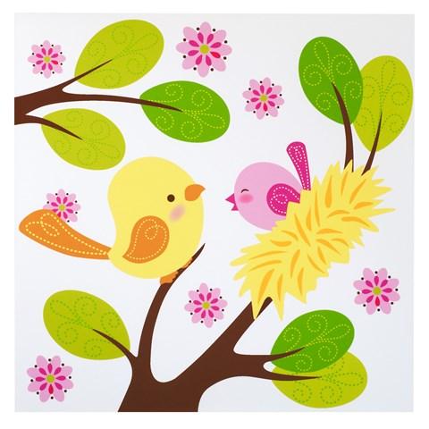 Sweet Tweet Bird Pink - Lunch Napkins