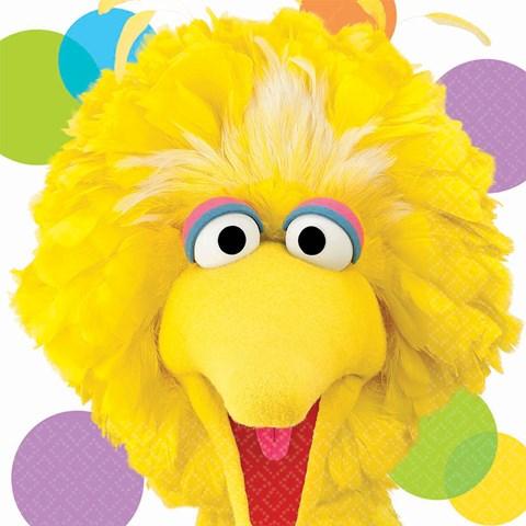 Sesame Street Party Big Bird Lunch Napkins