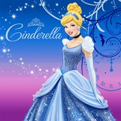 Disney Cinderella Sparkle Lunch Napkins