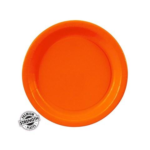 Sunkissed Orange (Orange) Round Paper Dessert Plates
