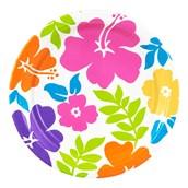 Hibiscus White Dessert Plates