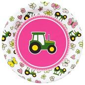 John Deere Pink Dessert Plates