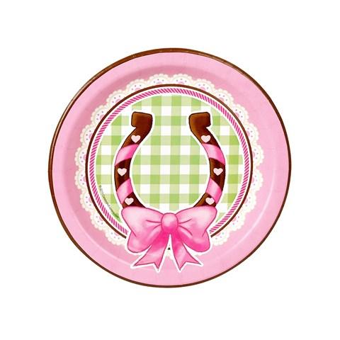Pink Cowgirl Dessert Plates (8)