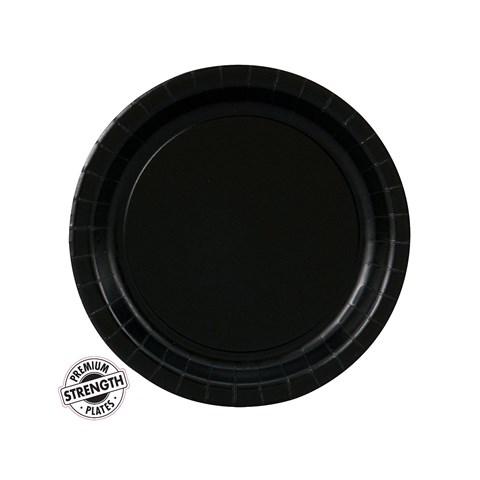 Black Velvet (Black) Dessert Plates