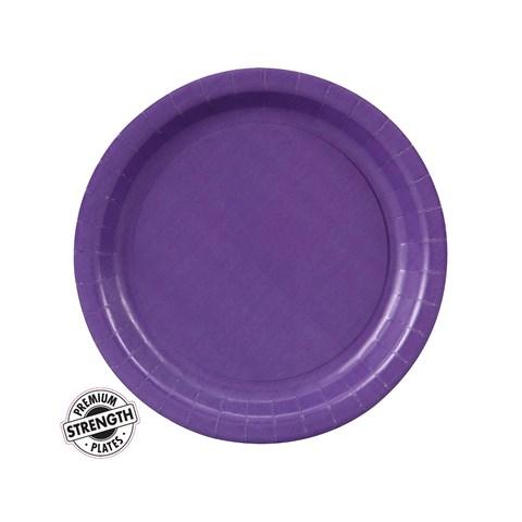 Perfect Purple (Purple) Paper Dessert Plates