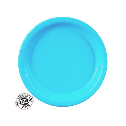 Bermuda Blue (Turquoise) Paper Dessert Plates