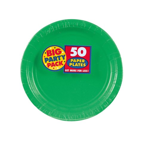Festive Green Big Party Pack Dessert Plates