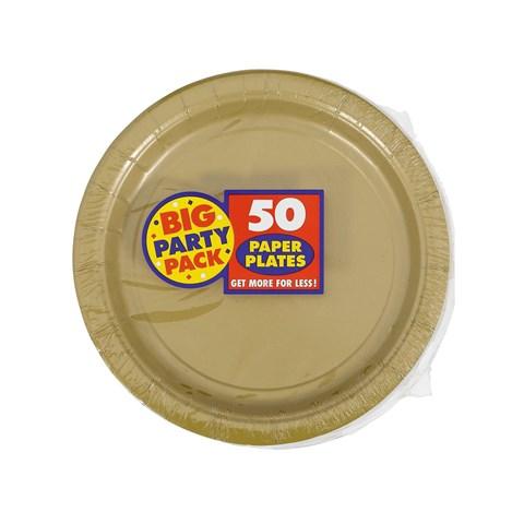 Gold Big Party Pack Dessert Plates