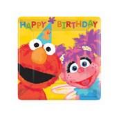 Sesame Street 1st Birthday Square Dessert Plates