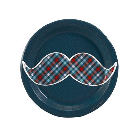 Little Man Mustache Dessert Plates