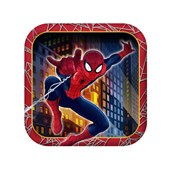Spider Hero Dream Party Square Dessert Plates