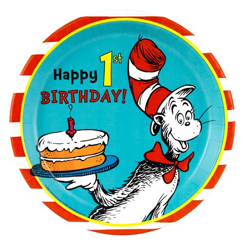 Dr. Seuss 1st Birthday Dinner Plates