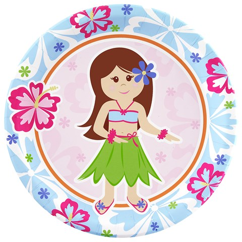 Hawaiian Girl Dinner Plates