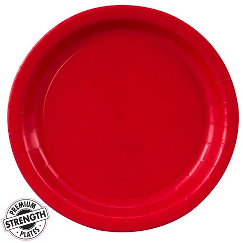 Classic Red (Red) Paper Dinner Plates