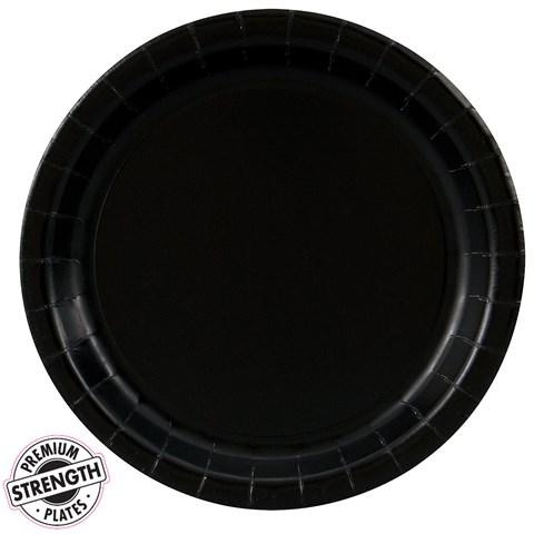 Black Velvet (Black) Dinner Plates