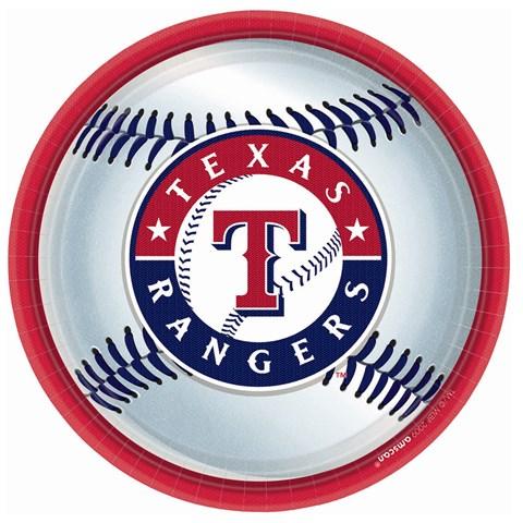Texas Rangers Baseball Round Dinner Plates