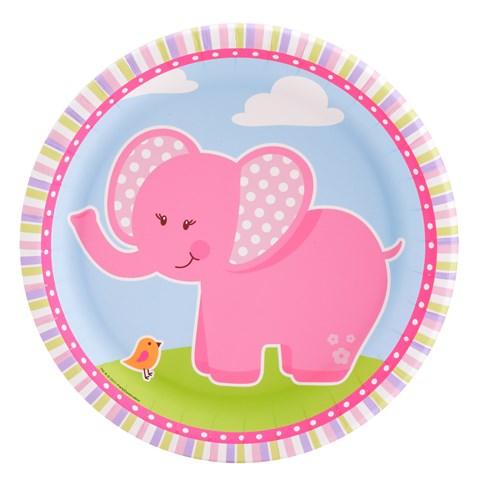 Pink Elephants Dinner Plates