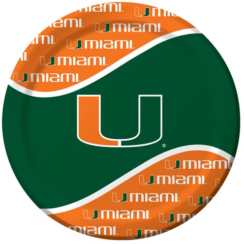 Miami Hurricanes Dinner Plates