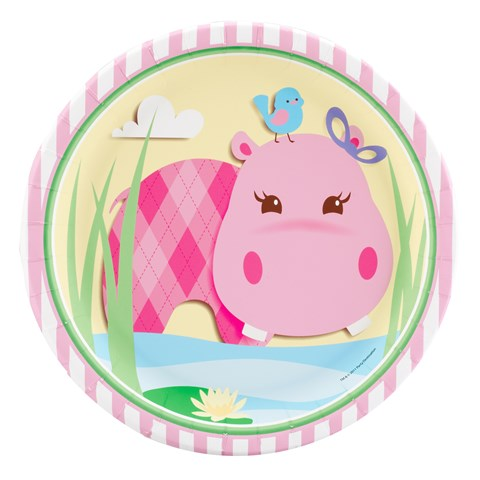 Hippo Pink Dinner Plates