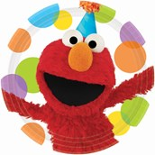 Sesame Street Elmo Party Dinner Plates