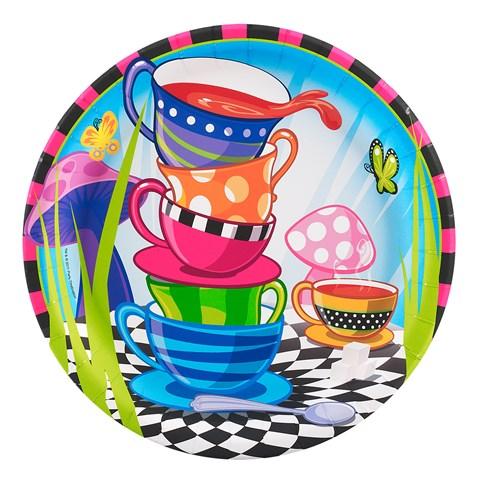 Topsy Turvy Tea Party Dinner Plates
