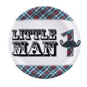 Little Man Mustache 1st Birthday Dinner Plates
